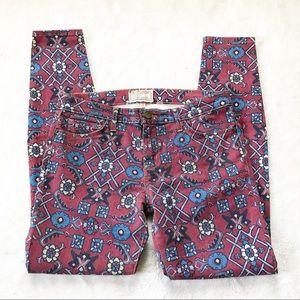 🌹Current/Elliot Ankle Skinny Crimson Jeans